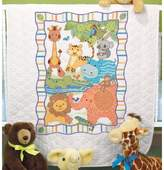 """Dimensions Baby Hugs Quilt Stamped Cross Stitch Kit - 43"""" x 34"""" Mod Zoo"""