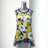 Vera Wang Simply vera floral chiffon tank