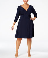 NY Collection Plus Size Ruched A-Line Dress