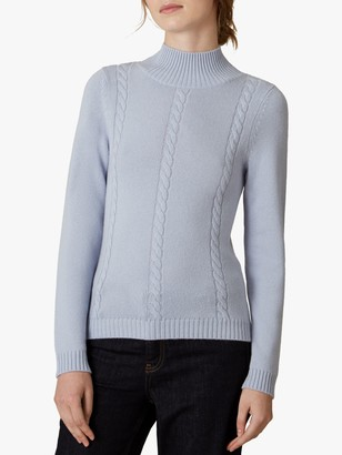 Jaeger Cable Knit Wool Jumper