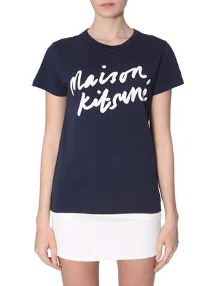 MAISON KITSUNÉ Handwriting Logo T-Shirt