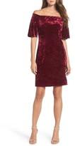Eliza J Women's Off The Shoulder Velvet Dress