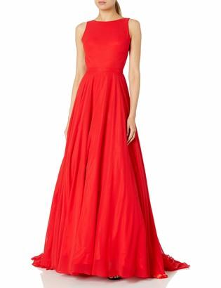 Mac Duggal Womens Flowing Chiffon Gown