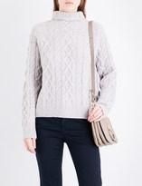 Vince Turtleneck wool-blend cable-knit jumper
