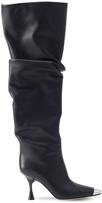 Sergio Rossi 90mm Leather Tall Boots