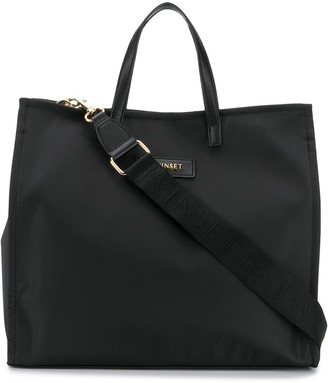 Twin-Set Logo Patch Tote Bag