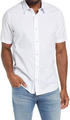 Travis Mathew Nosedive Short Sleeve Button-Up Shirt