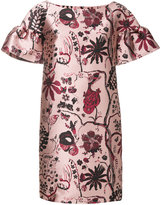 Alberta Ferretti floral embroidered dress - women - Polyester/Acetate/Cupro/other fibers - 44