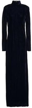 Nili Lotan Genvieve Cutout Velvet Turtleneck Maxi Dress