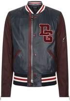 Dolce & Gabbana Leather Varsity Jacket