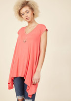 ModCloth A Crush on Casual Tunic in Coral in XXS