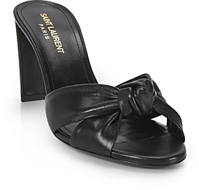 Saint Laurent Women's Bianca High Heel Slide Sandals