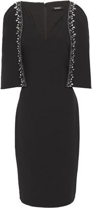 Badgley Mischka Cape-effect Embellished Dress