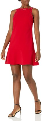 Ellen Tracy Women's Sleeveless Flounce Hem Dress