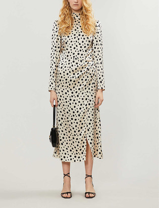 Reformation Carmelina polka-dot silk midi dress