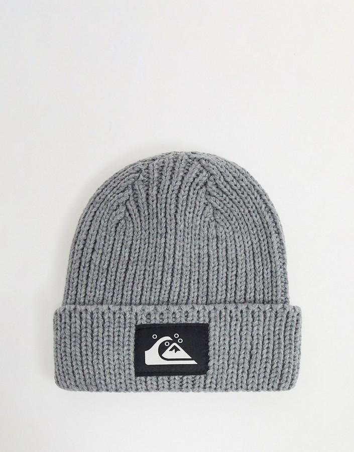 Quiksilver logo beanie in grey