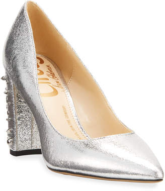 Sam Edelman Markham Metallic Studded-Heel Pumps