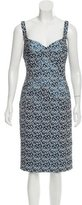 Nicole Miller Sleeveless Metallic Knee-Length Dress w/ Tags
