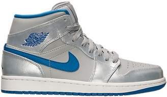 Jordan 1 Mid Wolf Grey Sport Blue