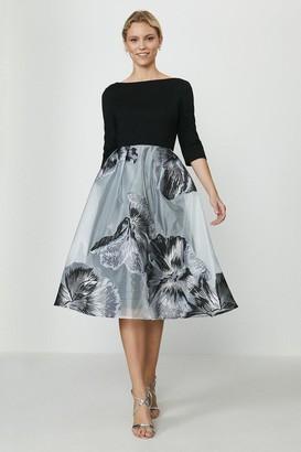 Coast Clipped Jacquard Full Midi Dress