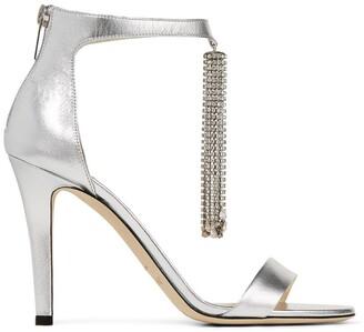 Jimmy Choo Viola 100 Crystal-Embellished Sandals