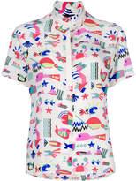 Emporio Armani sea print blouse