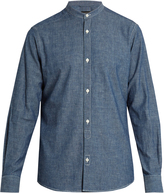 Ermenegildo Zegna Collarless cotton-chambray shirt