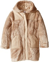 Chloe Kids - Hooded Faux Fur Coat Girl's Coat