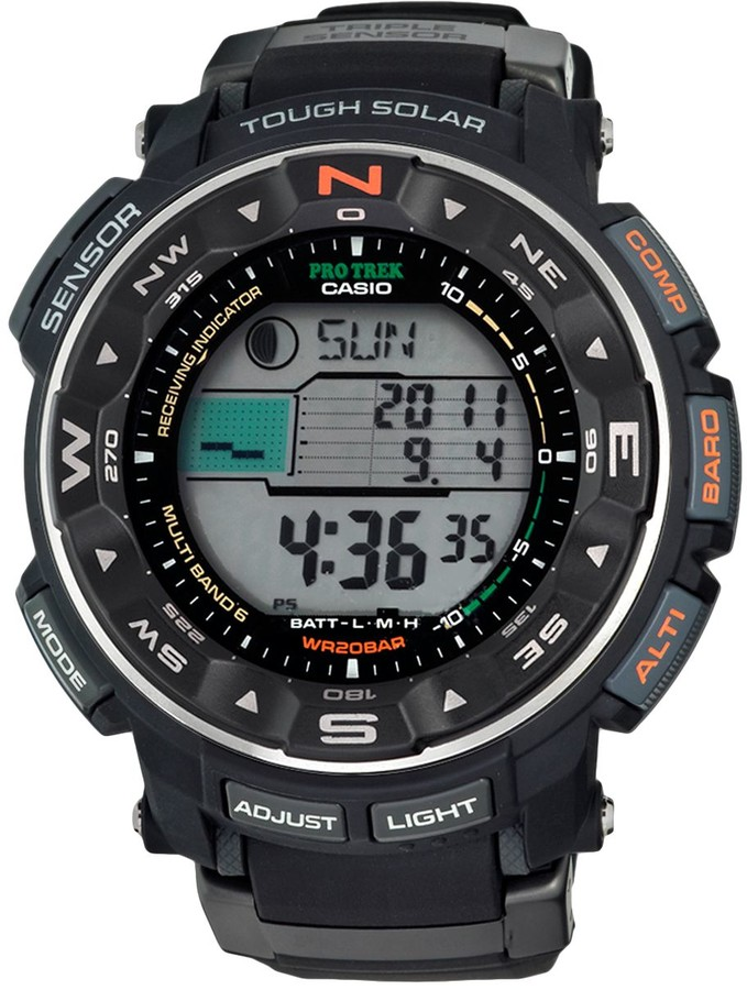 Casio Men's PRO TREK Atomic Solar Digital Chronograph Watch - PRW2500R-1CR