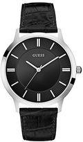 GUESS Silvertone and Black Dress Watch