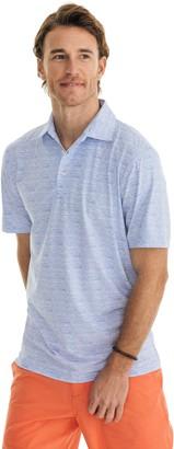 Southern Tide Wave Print Driver Performance Polo Shirt