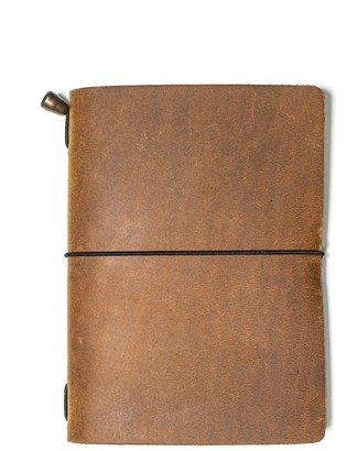 Mr Fox Handmade Passport Size Tobacco Leather Traveler's Notebook