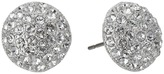 Nina Small Pave Button Earrings Earring