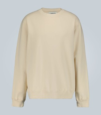 Lanvin Distressed printed sweatshirt