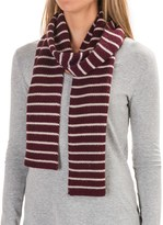 Carve Designs Lodge Rib-Knit Scarf (For Woman)