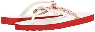 Tory Burch Printed Thin Flip-Flop (Red Destination/Red Destination) Women's Sandals