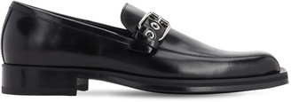 Versace Leather Loafers W/Buckle