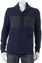 Men's SONOMA Goods for Life® Classic-Fit Colorblock Wool-Blend Shawl-Collar Cardigan