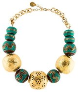 Devon Leigh Turquoise & Coral Bead Necklace