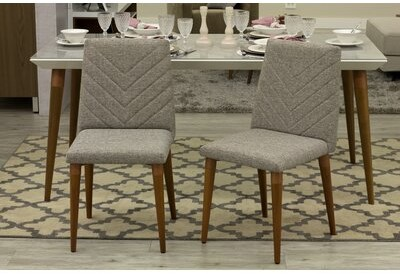 George Oliver Lemington Upholstered Dining Chair Upholstery Color Gray Shopstyle