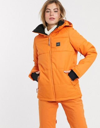 Billabong Down Rider ski jacket in orange