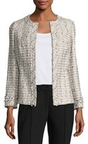 Lafayette 148 New York Emelyn Open-Front Plantain Tweed Jacket, Multi