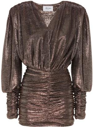 Redemption Ruched Metallic Mini Dress