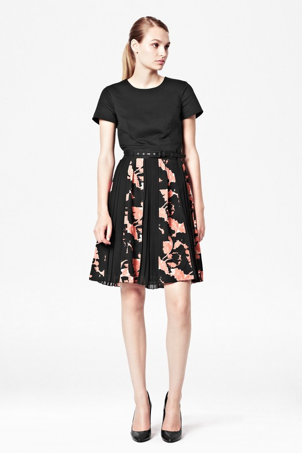 French Connection Vine Bloom Flared Dress