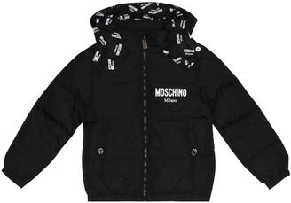 MOSCHINO BAMBINO Technical puffer jacket
