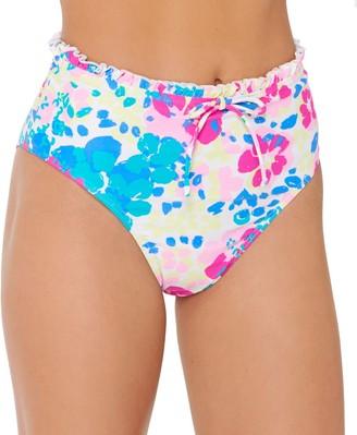 So Mix & Match Floral High-Waisted Bikini Bottoms