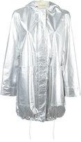 Paco Rabanne metallic parka coat