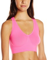 Hanes Women's ComfortFlex Fit Seamless Cozy Wirefree Bra with Racerback