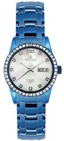 Sartego Women's SLMP77 Classic Analog Mother-Of-Pearl Face Dial Blue Swarovski Watch