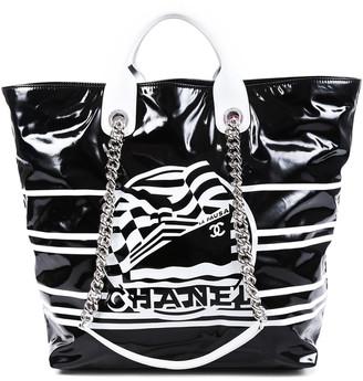 Chanel Black Vinyl Small La Pausa Bay Shopping Tote